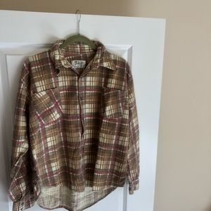 VINTAGE Button down flannel